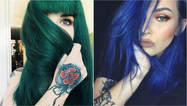 Tingere i capelli di blu o verde  tutto quello che dovete sapere ... de2b3f972de6